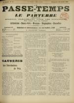 LE PASSE-TEMPS ET LE PARTERRE RÉUNIS, Trente-troisième Année - N°31