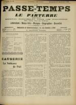 LE PASSE-TEMPS ET LE PARTERRE RÉUNIS, Trente-troisième Année - N°39