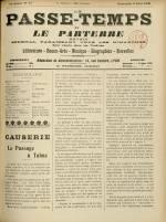 LE PASSE-TEMPS ET LE PARTERRE RÉUNIS, Trente-quatrième Année - N°31