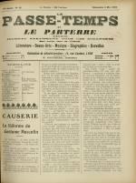 LE PASSE-TEMPS ET LE PARTERRE RÉUNIS, Trente-septième Année - N°18