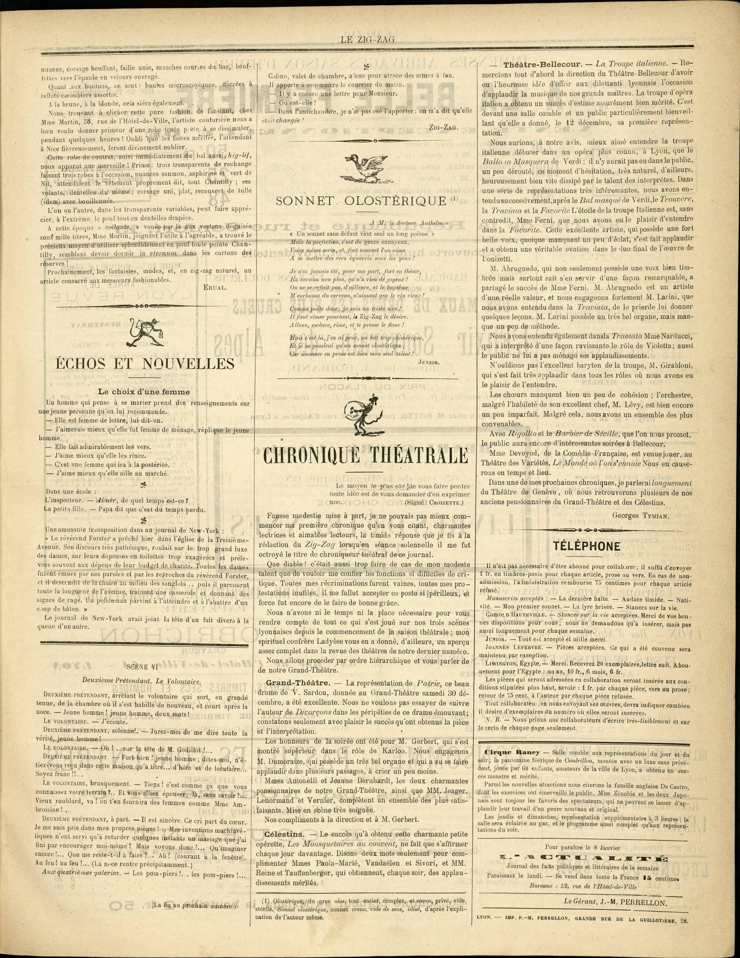 Contenu textuel de l'image :  ECHOS ET NOUVELLES