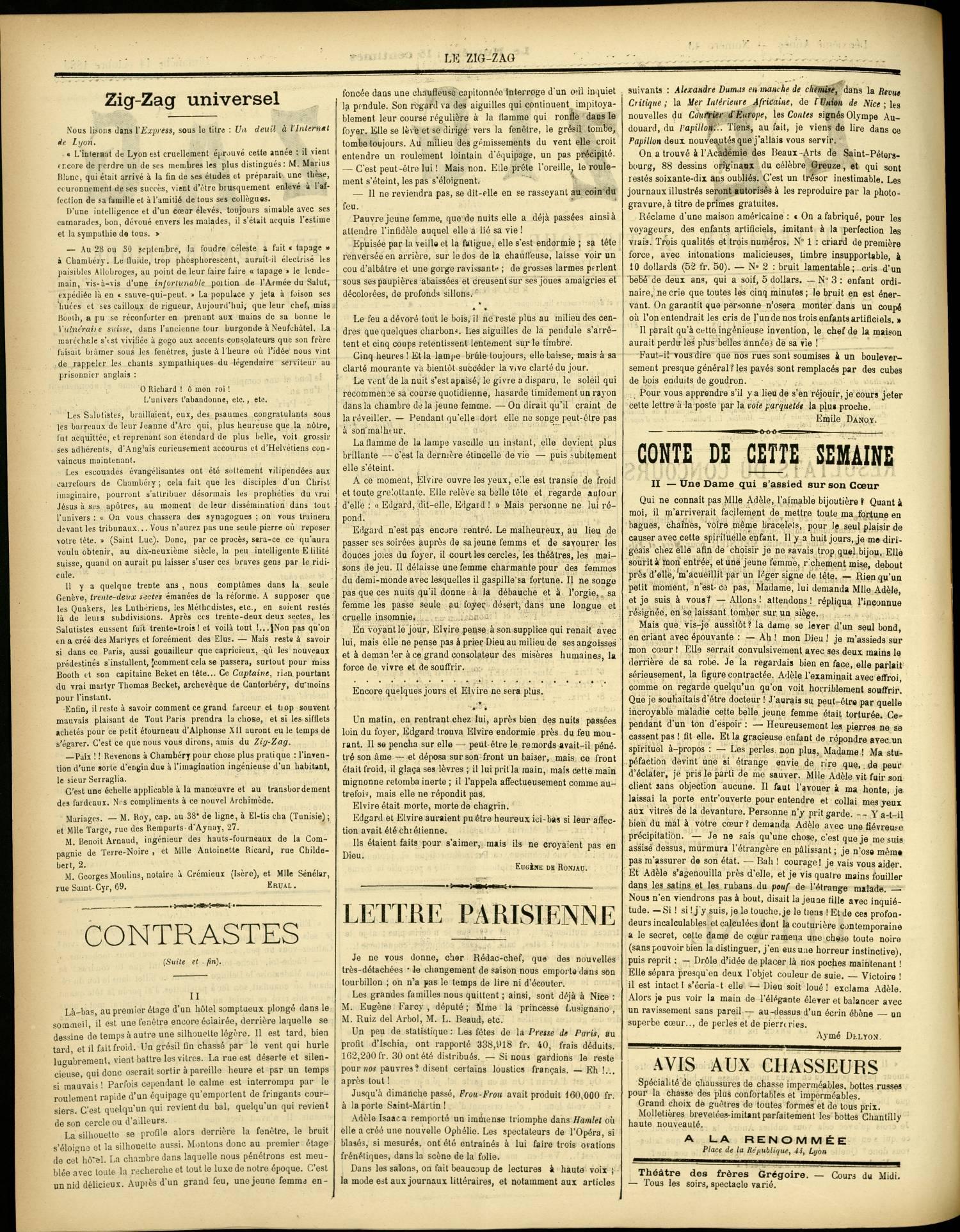 Contenu textuel de l'image : CONTE DE CETTE SEMAINE