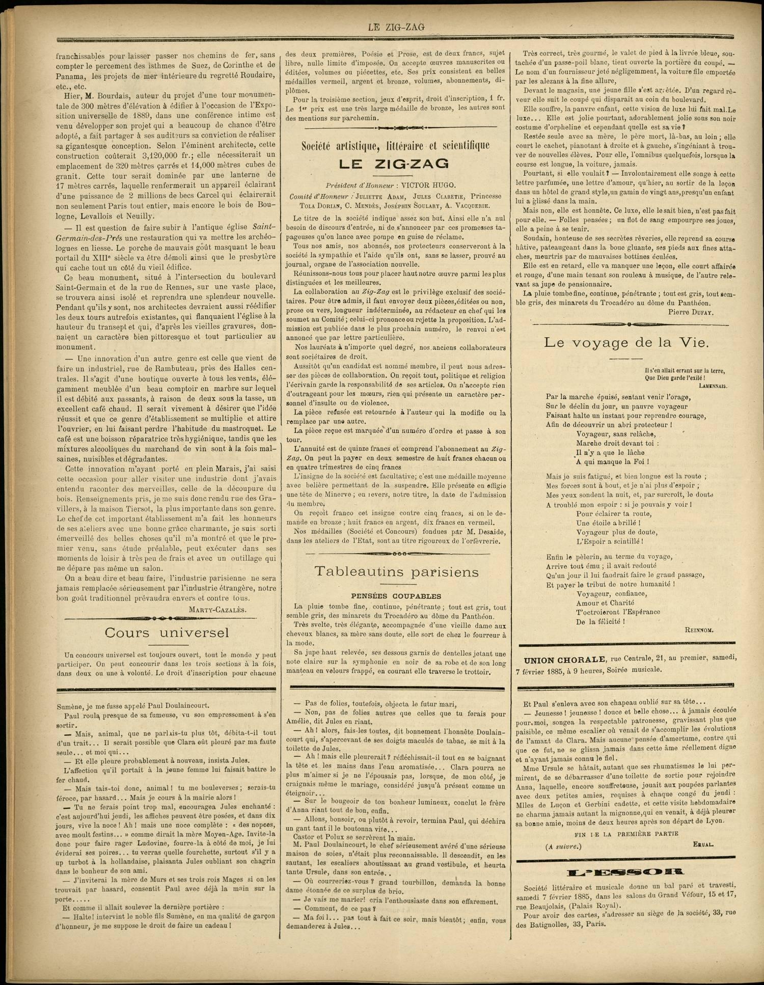 Contenu textuel de l'image : Tableautins parisiens