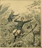 Terrible accident de chasse au Tonkin, un officier français tombé dans un piège à sangliers
