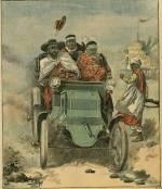 Le négus Ménélick en automobile