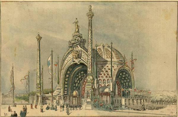 Les beautés de l'Exposition, la porte monumentale