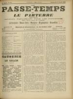 LE PASSE-TEMPS ET LE PARTERRE RÉUNIS : n°16, pp. 1