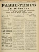 LE PASSE-TEMPS ET LE PARTERRE RÉUNIS : n°13, pp. 1